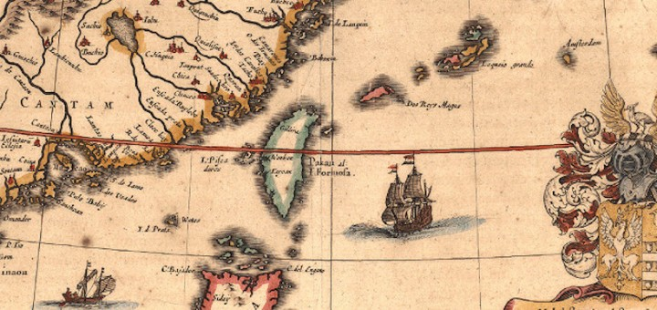 1635_Map_of_Formosa_(Taiwan)_and_Surrounding_Countries_by_Dutch_荷蘭人所繪福爾摩沙臺灣