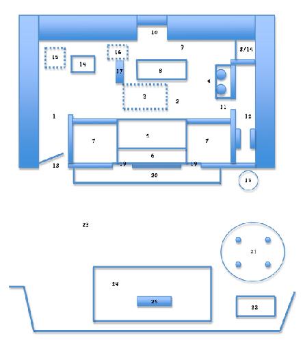 北部排灣族貴族家屋平面示意圖